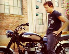Norman Reedus and Triumph Motorcycle. mmm <3