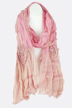 Blush Applique Scarf | Emma Stine Limited