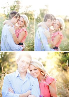 love the lighting in these engagement pictures!