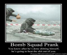 Oh my!  Not a good prank to pull....lol !