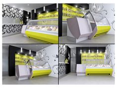 ice cream restaurant furniture | Picture of Ice cream shop in Ussana, made-on-measure bar furniture