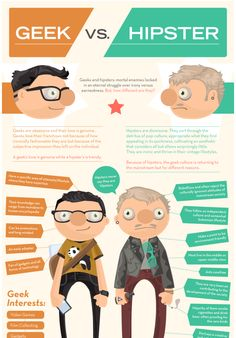 Infographic of the Day: Geek vs. Hipster