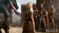 One of the 101 illustrations I painted for the game Rome II Total War. Lead Adventure, Celtic Warriors, Sword And Sorcery, Fantasy Characters, Fictional Characters, Bronze Age, Barbarian, Character Inspiration, Character Design