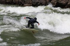 Shredding the river. #riversurfing #Riverbreak riverbreak.com