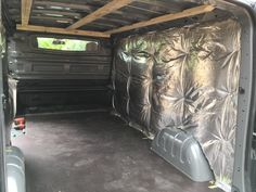 Carpentry van fitout phase 3: Insulate van with foil backed insulation (knauf earth wool) as used in house roofing.