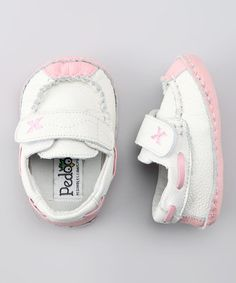 Take a look at this White & Pink Dream Soft Sole Boat Shoe by Pedoodles on #zulily today!