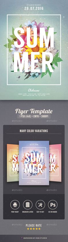 Summer Flyer  PSD Template • Download ➝ https://graphicriver.net/item/summer-flyer/17057603?ref=pxcr