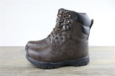 Brahma Challenger Slip Resistant Outdoor High Top Leather Boots In Brown Mens Shoes Boots, Leather Boots, Men's Shoes, Shoe Boots, Girl Outfits, Fashion Outfits, Outfit Sets, Hiking Boots, High Tops