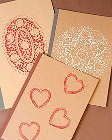 doily stencil cards