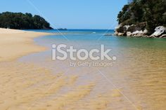 Outgoing Tide, Kaiteriteri Inlet, Nelson, NZ Royalty Free Stock Photo Abel Tasman National Park, New Zealand Beach, Turquoise Water, Beach Fun, Image Now, How To Be Outgoing, Beautiful Beaches, National Parks, Royalty Free Stock Photos
