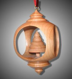 Inside Out Woodturning Ornament   Inside Out Ornament