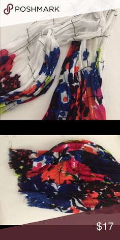 LOFT Scarf - Get ready for Spring! 🌷 🌷Perfect for Spring! Lightweight scarf with frayed edge. LOFT Accessories Scarves & Wraps