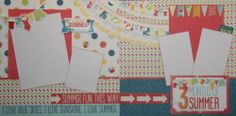 A Perfect Summer Class Kit Three 2 Page Layout Class Kit w Instructions | eBay