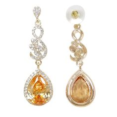 EVER FAITH Womens Austrian Crystal Zircon Floral Leaf Teardrop Necklace Earrings Set Orange GoldTone ** To view further for this product, go to the picture link. (This is an affiliate link). Teardrop Necklace, Picture Link, Austrian Crystal, Earring Set, Jewelry Sets, Faith, Drop Earrings, Orange, Crystals