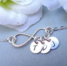 Personalized Infinity Bracelet with my fam's initials!