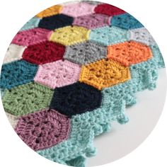 Cherry Heart: Blog: Weekender Blanket Hexie Pattern