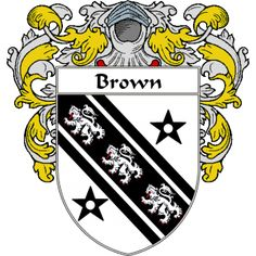 Brown Coat of Arms   namegameshop.com has a wide variety of products with your surname with your coat of arms/family crest, flags and national symbols from England, Ireland, Scotland and Wale