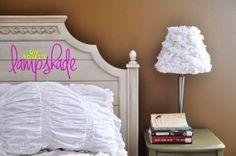 DIY white Rosette Lampshade