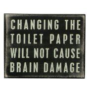 Primitives by Kathy Box Sign 5 by 4-Inch Toilet Paper