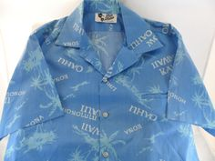 Hilo Hattie Hawaiian Shirt Oahu Kahuai Tropical Palm Trees  XL Made In Hawaii #HiloHattie #Hawaiian