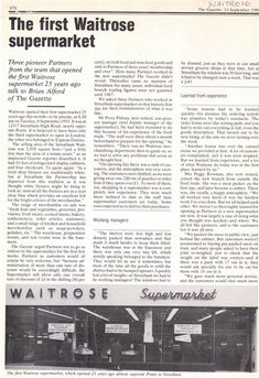 Photo:The Gazette - self service at Streatham page one Waitrose Supermarket, The Gazette, Personal History, South London, History Photos, The One, Growing Up, Self, Printables