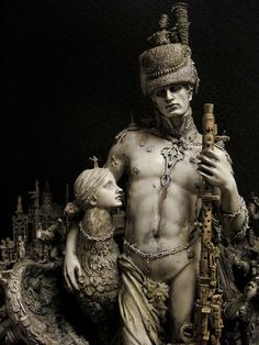 Kris Kuksi is an American artist in the genre of Fantastic Realism.Assemblages, Painting, Drawing.