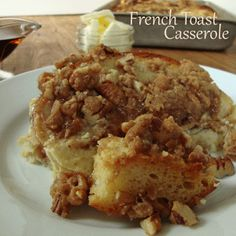 French Toast Casserole - Remember her note that she would cut it up next time instead of trying to line the bread up.
