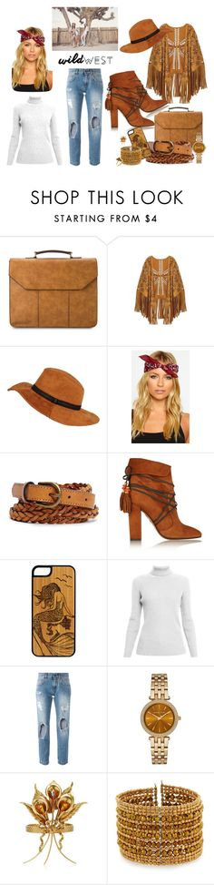 """wild wild west"" by dj-e-r-a-88 ❤ liked on Polyvore featuring River Island, Forever 21, Aquazzura, Rumour London, Dolce&Gabbana, Michael Kors, Rodarte, NAKAMOL, Ona Chan and Wildfox"