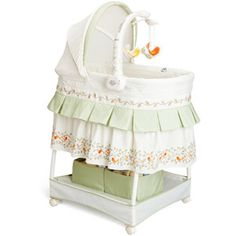 Delta Sweetest Birds Gliding Bassinet, White  Want this for Gabrielle