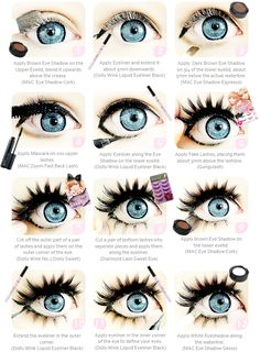 Gyaru Makeup Tutorial by ~princessrindoll on deviantART This is actually how I fix my makeup every time >w>