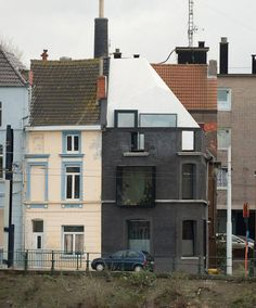 House G-S / Graux & Baeyens Architecten - fun preservation of a 19th century corner house facade