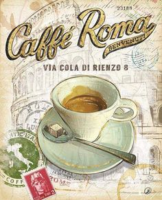 Cafe Roma vintage ad
