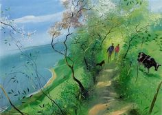 Nicholas Hely-Hutchinson - Cliff Walk in Spring