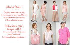 Alerte Rose ChezVanessa.com, vêtements, accessoires et bijoux de jeunes créateurs de mode français.