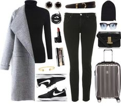 Airplane Winter Travel Outfit 1