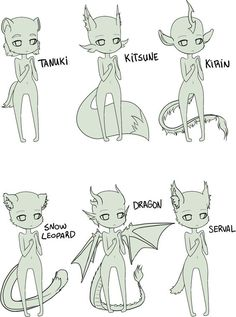FREE - anthro chibi bases by Kyttias on DeviantArt - Shounen And Trend Manga Drawing Techniques, Drawing Tips, Drawing Sketches, Drawing Ideas, Basic Drawing, Drawing Base, Manga Drawing, Furry Drawing, How To Draw Manga