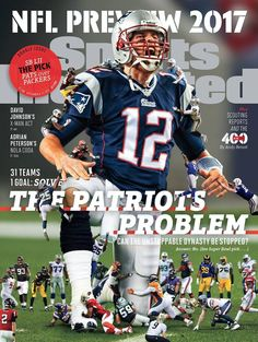As the 2017 NFL season inches closer, it's pretty obvious that Tom Brady and the New England Patriots are the giants of the league. Best Football Team, Patriots Football, Sport Football, Football Season, Football Helmets, Patriots 2017, Football Cards, Football Players, New England Patriots