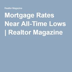 mortgage interest rates for refinance