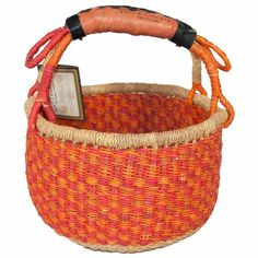 This small Bolga market basket is a mini version of our popular market basket. It is round with a single leather handle and makes a charming child's…