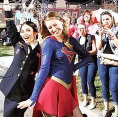 germainlussier: Even #Supergirl was loving Grease Live! #greaselive