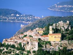 Eze, France--near Nice, France.  We had lunch at the top of the mountain and enjoyed a glorious view of the water.