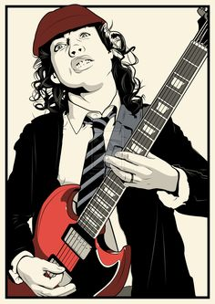 Angus Young by DottGonzo.deviantart.com on @DeviantArt
