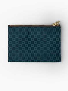 Gift for Blue Color Lovers • Millions of unique designs by independent artists. Find your thing. Dark Blue Background, Dark Blue Color, Blue Aesthetic, Pattern Wallpaper, Midnight Blue, Textures Patterns, Zipper Pouch, Floor Pillows, Zip Around Wallet