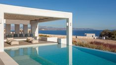 MIA I -Διώροφη εξοχική κατοικία στη Πάρο | vasdekis Paros, Luxury Villa, Pergola, Outdoor Structures, Villas, Outdoor Decor, Projects, Home Decor, Luxury Condo