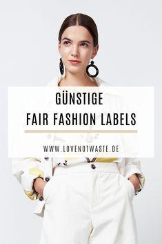 Günstige Fair Fashion Labels - New Ideas Vegan Fashion, Fast Fashion, Slow Fashion, Fashion 2020, Cannes, Savings Planner, Ethical Fashion Brands, Online Shops, Fashion Labels