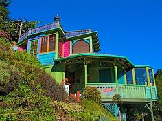 rustic, romantic - Vacation Rental - Rainbows and Dragons Hike Inn, Big Sur, California. Already booked our honeymoon and sent in our deposit! Now to wait for our amazing adventure as husband and wife Vacation Home Rentals, Vacation Deals, Vacation Spots, Vacation Destinations, Big Sur California, California Coast, Oh The Places You'll Go, Places To Travel, Places To Visit