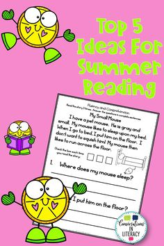 Our Top 5 Ideas for Summer Reading will keep your elementary students reading and learning all summer long! They will especially enjoy #4! Reuse reading passages for summer reading too! Primary Teaching, Teaching Jobs, Primary Classroom, Teaching Activities, Classroom Activities, Summer Activities, Fun Learning, Teaching Resources, Teaching Ideas