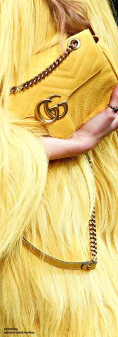 Gucci Fall Nice bag though more Spring/Summer I think. But that coat OMG - Gucci Handbags - Ideas of Gucci Handbags - Gucci Fall Nice bag though more Spring/Summer I think. But that coat OMG looks like Big Bird! Jaune Orange, Gucci Spring, Yellow Fashion, Shades Of Yellow, Color Shades, Gucci Handbags, Fendi Bags, Lemon Yellow, Mellow Yellow