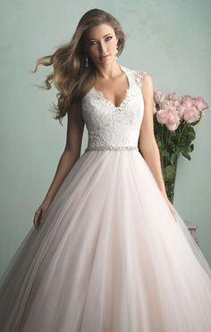 Ball Gown Wedding Dresses : Do a graceful walk in Allure Bridals 9162. This majestic wedding gown features c