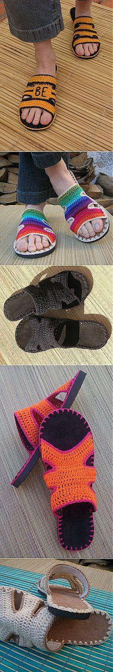 Crochet slippers for men. Easy slippers